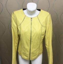 Leather fashion jacket 44-46 r