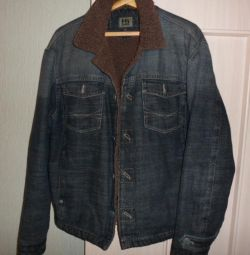 Джинсовая куртка на исскуств. меху 52-54, 182-188