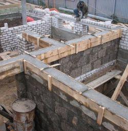 Construcția subsolului.