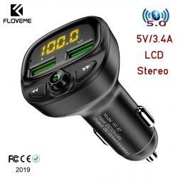 Αυτόματο πομπό FM BT5.0 Ακουστικό ακουστικού φόρτισης