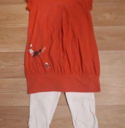 Tunică + pantaloni pentru femei gravide
