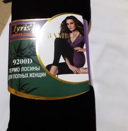 Thermo leggings. On the big size.