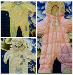 Baby things for a girl package 0-1 year, 1-2 years