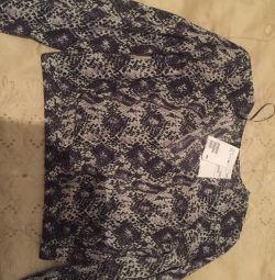 Новая блуза со змеиным принтом