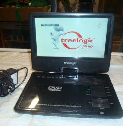 портативный тв-dvd-usb Treelogic TL-PDVD 904TV
