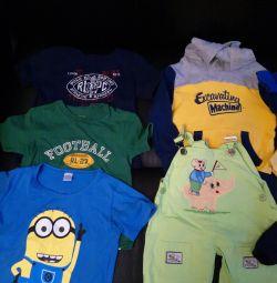 Çocuk için tişörtler ve özlemler