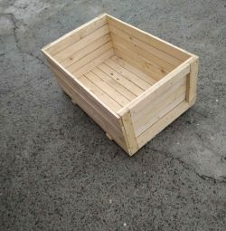 Wooden boxes, new.