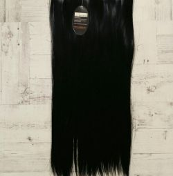 Μαύρα συνθετικά νέα μαλλιά