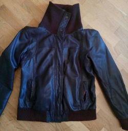 Jacket, leatherette