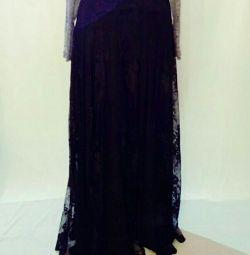 Кружевная юбка в пол