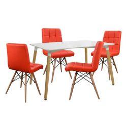 SET TABLE 5T TABLE MINIMAL 120X80-ROSA KOKK
