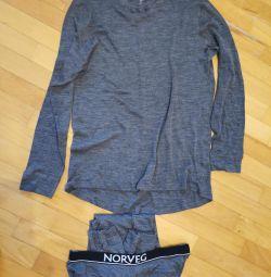 Layered clothing man's Norveg set