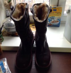 High fur boots 43 sizes