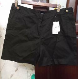 Pantaloni scurți pentru femei de dimensiune 48 bumbac 98%