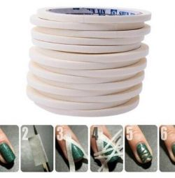 Protective tape for nail design