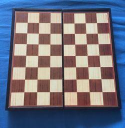 Πίνακας αναδίπλωσης για παιχνίδι σκακιού, τάβλι, πούλια