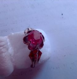 inel, 925 de argint sterlină cu stea, aurit