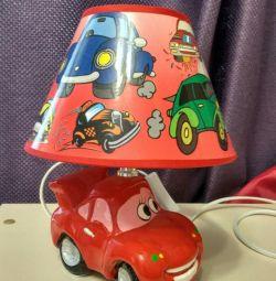 Светильник ночник детский Тачки настольный