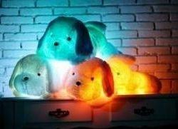 Μαλακό σκυλί με οπίσθιο φωτισμό LED.