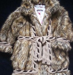 Fur coat, height 110