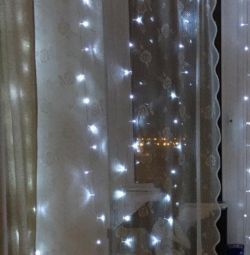 Garland curtain 3x3m led ice diodes cold white