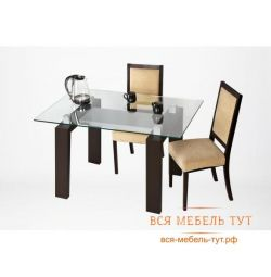 Tokyo table (black silver / clear glass)