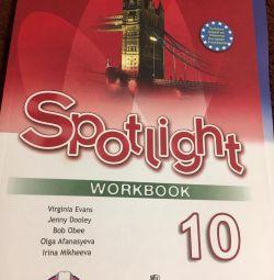 Spotlight de carte de lucru 10 celule
