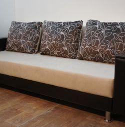 New Sofa Palermo Motive Darc Saund Cream