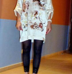 Used Zara blouse tunic size M silk