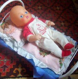 Πατάκι για κούκλες με κούκλα μωρού