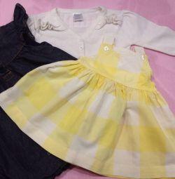Φόρεμα (2pcs) για παιδιά 2-6 μηνών, σακάκι