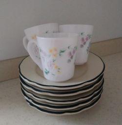 Cups + saucers / exchange