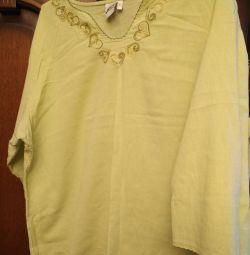 Hamile kadınlar veya dolgun kadınlar için gömlek XL