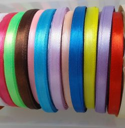 Satin ribbons for needlework 6 mm wide