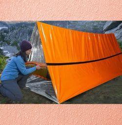 2 adet Acil uyku tulumu çadır tente borusu