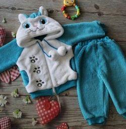 Детский теплый костюм зоопарк новый