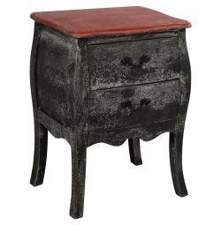 COMMON SIMONE HM7060 2 DRAWER BLACK PATINA 51X
