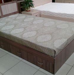 Κρεβάτι με συρτάρια 1,2 * 2