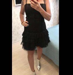 Новое вечернее/коктейльное платье с кружевом Итал