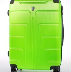 Чемодан пластиковий luyida яскраво-зелений 75 см