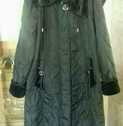 Quilted coat with fleece. New. Size 58-60.