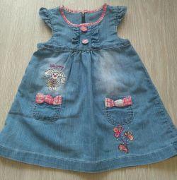 Denim φόρεμα για 1-1,5 χρόνια