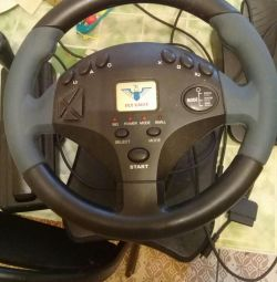 Steering wheel with pedals and switching speed