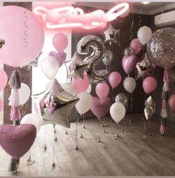 Balloon meter figure with helium