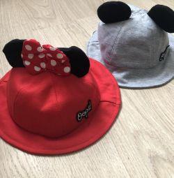 Панамки -капелюшки на дівчинку 1-3 роки