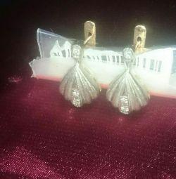 Cercei din aur cu diamante