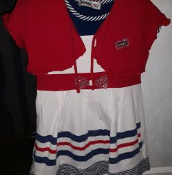 Dress with a butterfly, sailor, cotton, Wanex.