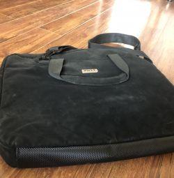 Men's bag suede