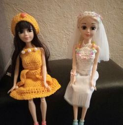 Dress for a doll (bride)