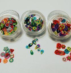Fimo for nail design. 50pcs